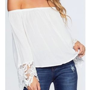 Ambiance off the shoulder blouse